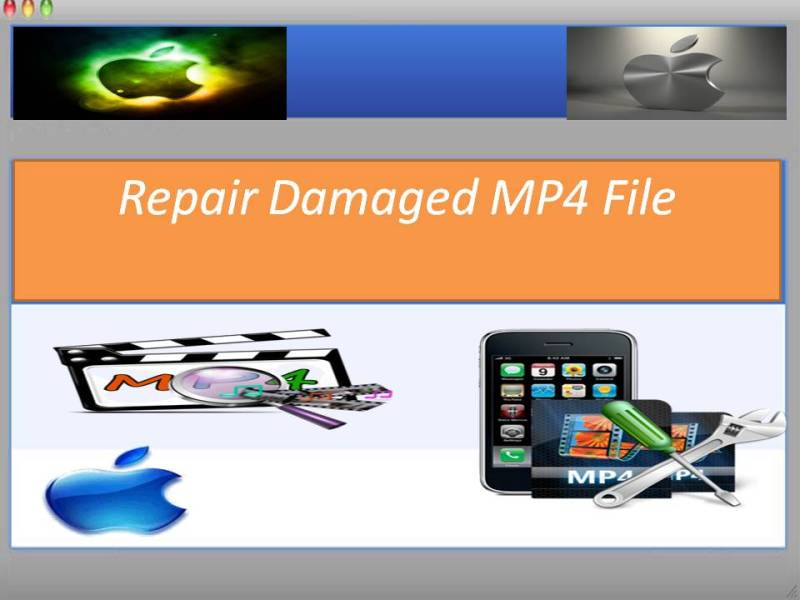 Repair corrupt MP4 audio and video file.